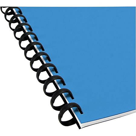 """GBC® ZipBind® Binding Spines, 5/16"""", Black, Pack Of 10"""
