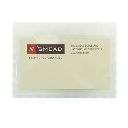 """Smead® Self-Adhesive Vinyl Pockets, 3"""" x 4 1/8"""", Pack Of 5"""