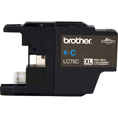 Brother LC75C Original Ink Cartridge - Inkjet - 600 Pages - Cyan - 1 Each