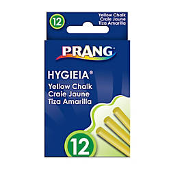 Prang Hygieia Dustless Chalk Yellow Box