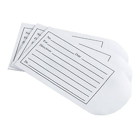 "Medline Medication Envelopes, 3 1/2"" x 2 1/4"", White, Case Of 500"