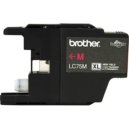 Brother LC75M Ink Cartridge - Inkjet - High Yield - 600 Pages - Magenta - 1 Each