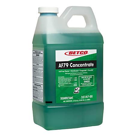 Betco AF79 Acid-Free Disinfectant Restroom Cleaner Concentrate Disinfectant, 2-Liter, Pack Of 4