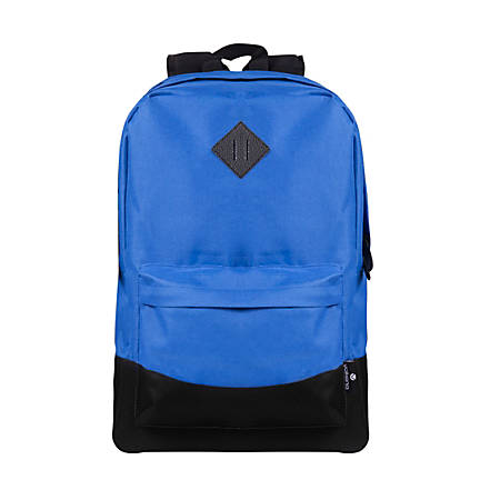 """Volkano Daily Grind Backpack With 18.1"""" Laptop Pocket, Royal Blue"""