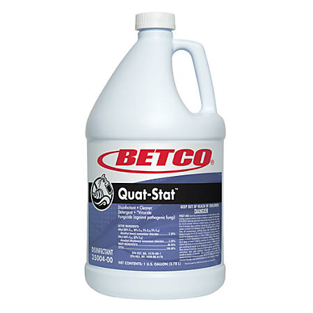 Betco® Quat-Stat Disinfectant Cleaner, Fresh Scent, 1,184 Oz, Pack Of 4