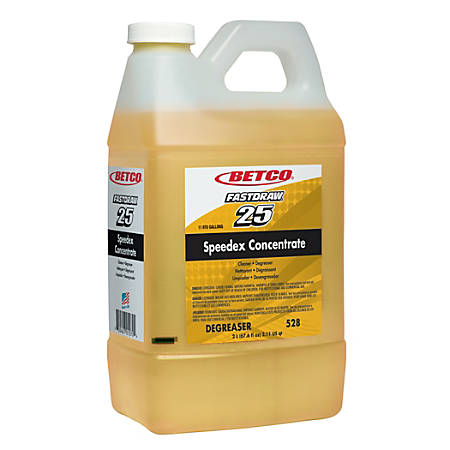 Betco® Fastdraw Speedex Concentrate, Lemon Scent, 2-Liter, Pack Of 4