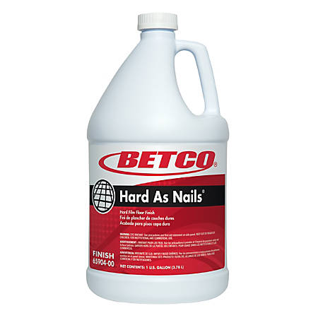 Betco® Hard As Nails® Floor Finish, 1 Gallon, Pack Of 4