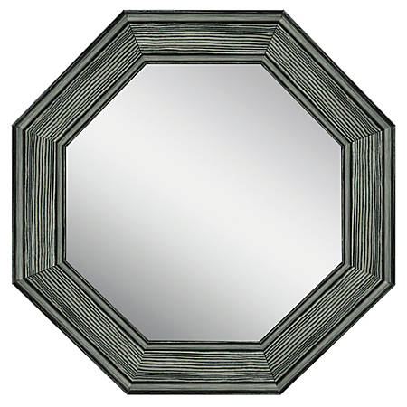 PTM Images Framed Mirror Octagonal 35 12 H x 35 12 W Stone Gray by ...