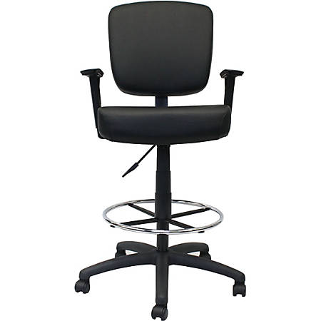 Pleasing Boss Office Products Oversized Drafting Stool With Arms Black Item 7510955 Gmtry Best Dining Table And Chair Ideas Images Gmtryco