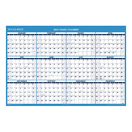 "AT-A-GLANCE® Horizontal Erasable Wall Calendar, 12 Months, Reversible for Planning Space, 48"" x 32"""