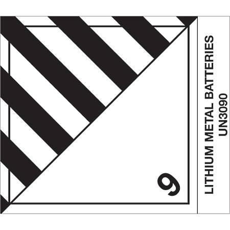 """Tape Logic® Preprinted Shipping Labels, DL519P1, Lithium Metal Batteries, Square, 4"""" x 4 3/4"""", Black/White, Roll Of 500"""