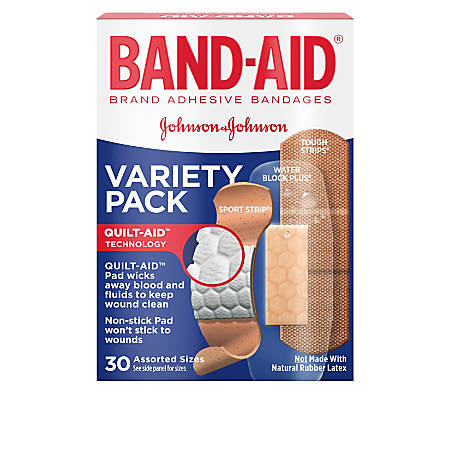 Band-aid® Active Lifestyles Adhesive Bandages, Assorted Colors, Pack Of 30