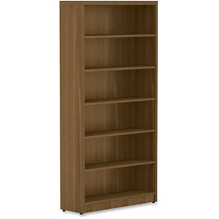 Lorell® Chateau Series Bookcase, 6-Shelf, Walnut