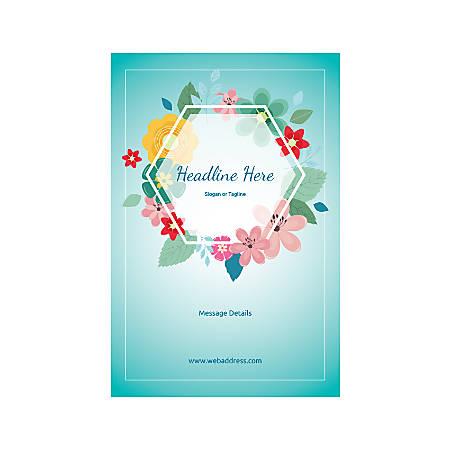 A-Frame Sign, Floral Hexagon