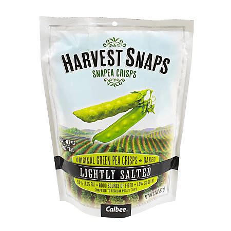 Harvest Snaps Snapea Crisps, Lightly Salted, 3.3 Oz Pouch