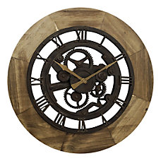 FirsTime Co Wood Gear Wall Clock