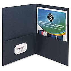 Business Source Two Pocket Folders Letter