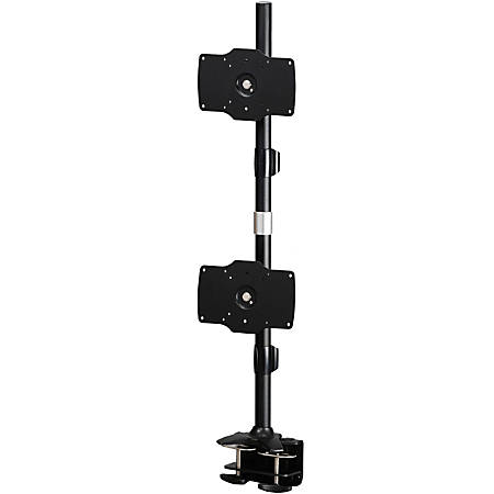 """Amer Mounts Clamp Based Hex Monitor Mount for six 15""""-24"""" LCD/LED Flat Panel Screens Vertical Clamp Based Dual Monitor Mount for two 24""""-32"""" LCD/LED Flat Panels"""