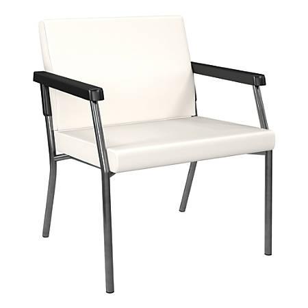 Office Star® Worksmart® Bariatric Big & Tall Guest Chair, Snow/Gunmetal Gray