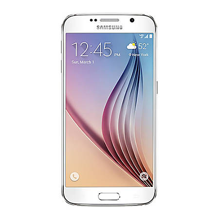 Samsung Galaxy S6 G920V Refurbished Cell Phone, White, PSC100189