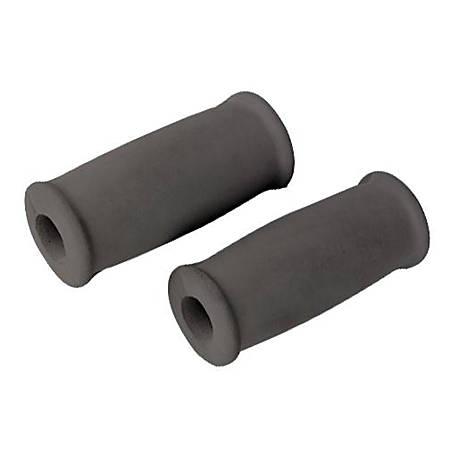 Medline Crutch Foam Hand Grips, Gray, Case Of 6 Sets