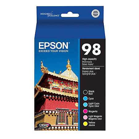 Epson® T098120-BCS High-Yield Black/Color Ink Cartridges, Pack Of 6