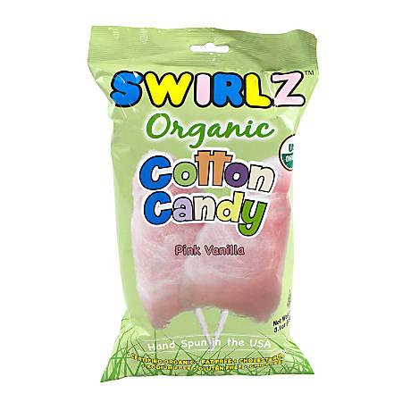 Swirlz Organic Pink Vanilla Cotton Candy, 3.1 Oz, Pack Of 12 Pouches