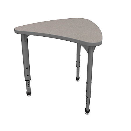Marco Group Apex™ Series Adjustable Chevron Student Desk, Gray Nebula/Gray