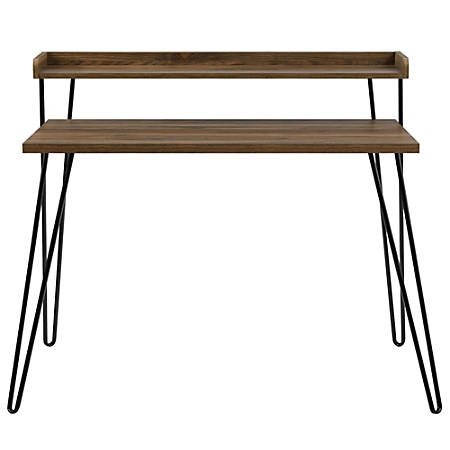 Ameriwood™ Home Haven Retro Desk With Riser, Walnut