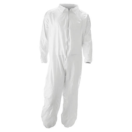 MALT ProMax Coverall - Recommended for: Chemical, Painting, Food Processing, Pesticide Spraying, Asbestos Abatement - Medium Size - Zipper Closure - Polyolefin - White - 25 / Carton
