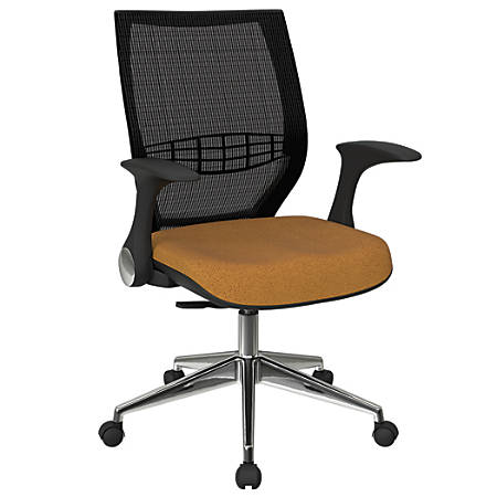 Office Star™ Pro-Line II ProGrid Fabric High-Back Chair, Brass/Black/Silver