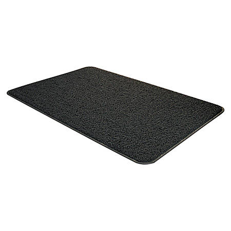 3M Vinyl-Backed Scraper Mat With 4-Sided Edging, 3' x 5', Gray