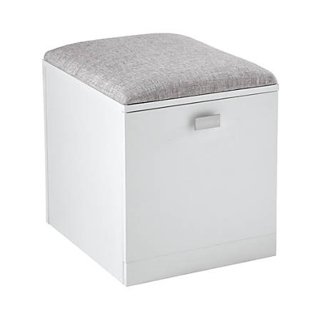 "See Jane Work® Kate File Cabinet/Seat, 18-1/2""H x 15-3/8""W x 18-1/8""D, White"