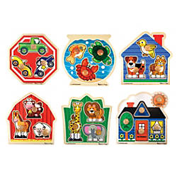 Melissa Doug Jumbo Knob Puzzle Set