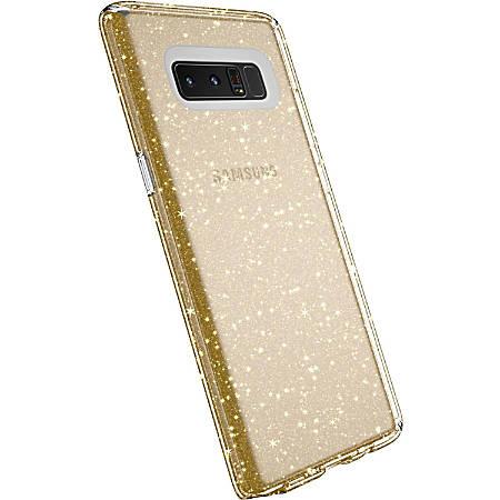 Speck Presidio Clear + Glitter Smartphone Case - For Smartphone - Embedded Glitter Crystals - Clear, Glitter Gold