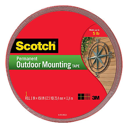 Scotch Heavy Duty Interiorexterior Double Sided Mounting Tape 1 X