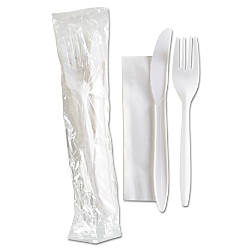 GEN Mediumweight Wrapped Cutlery Kits White