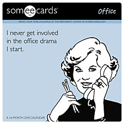Day Dream Someecards Office Monthly Wall Calendar 12 X January