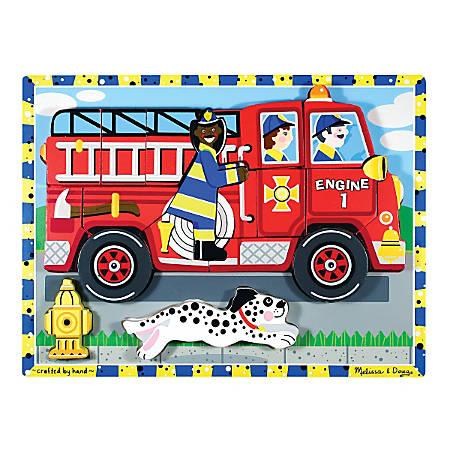 Melissa & Doug Fire Truck 18-Piece Chunky Puzzle
