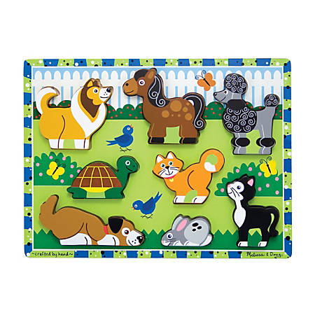 Melissa & Doug Pets 8-Piece Chunky Puzzle