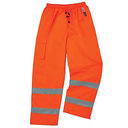 Ergodyne GloWear® 8925 Class E Polyester Thermal Pants, 2X, Orange