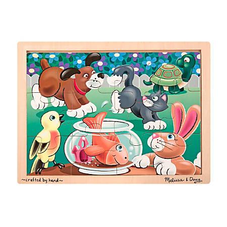 Melissa & Doug Playful Pets 12-Piece Jigsaw Puzzle