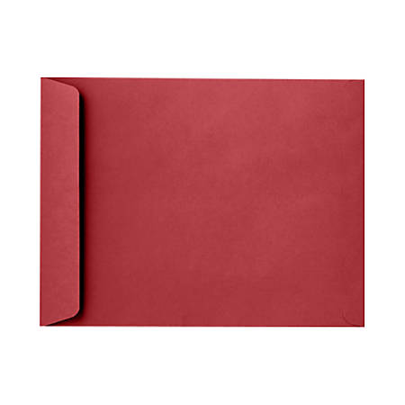 """LUX Open-End Envelopes With Peel & Press Closure, 10"""" x 13"""", Ruby Red, Pack Of 500"""