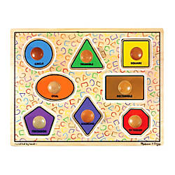 Melissa Doug Large Shapes 8 Piece