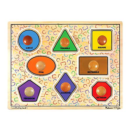 Melissa & Doug Large Shapes 8-Piece Jumbo Knob Puzzle