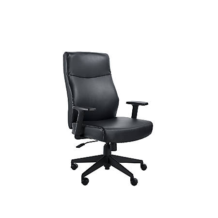 Serta Style Amy High-Back Office Chair, Bonded Leather, Black/Black