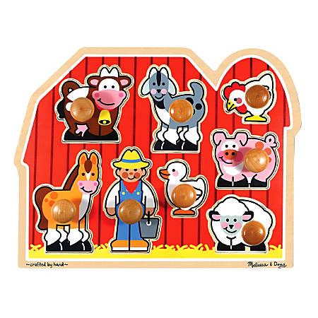 Melissa & Doug Large Farm 8-Piece Jumbo Knob Puzzle