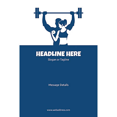 Adhesive Sign, Weight Lifting, Vertical