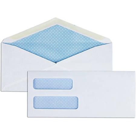 "Business Source No. 8-5/8 Business Check Envelopes - Double Window - #8 5/8 - 8 5/8"" Width x 3 5/8"" Length - 24 lb - Gummed - Wove - 500 / Box - White"