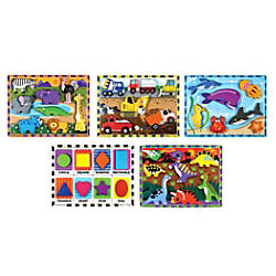 Melissa Doug Chunky Puzzles Set Of